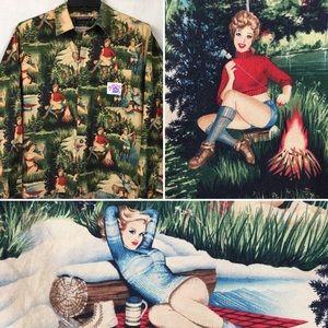 """Aaron La Crate """"Milkcrate"""" Indie Retro shirt S"""